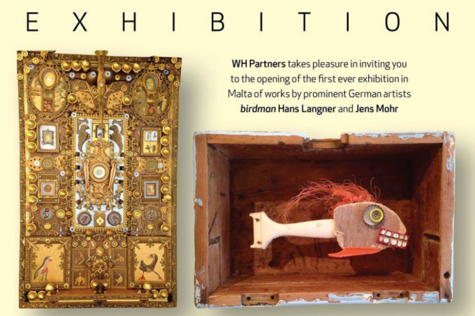 First ever pop-up exhibition in Malta of works by Birdman Hans Langner and Jens Mohr